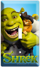 Shrek And Puss In Boots Single Light Switch Cover Plate Children Game Room Decor