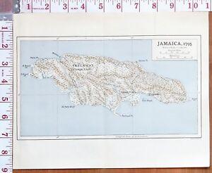 MAP/BATTLE PLAN JAMAICA 1795 TRELAWNY COCKPIT LAND PORT ROYAL KINGSTON