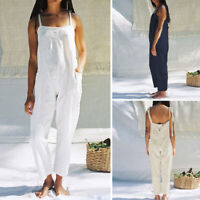 Womens Dungarees UK Ladies Overalls Baggy Casual Oversized Bib Jumpsuit Playsuit
