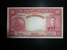 Bahamas Lot P-10d 1936 10 Shillings XF Add Collection