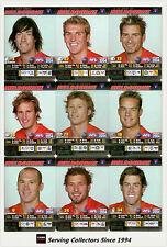 2004 AFL Teamcoach Trading Card Silver Team set Melbourne (9)