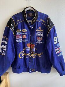 INSANE! Team Caliber Crown Royal Liquor Men's Nascar Racing Jacket