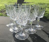 Drinking Glasses Vintage Durand Chantilly Cut Lead Crystal 11-1/2 oz set/6