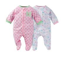 Gerber Girl 2-Piece Zip Front Sleep N Plays Pink Butterfly Size 3-6M BABY GIFTS