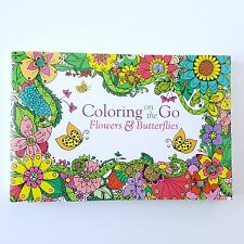 Adult Pocket Coloring Book - Coloring on the Go: Flowers & Butterflies - NEW