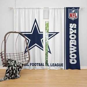 Dallas Cowboys 2 Panels Darkening Blackout Window Curtains Bedroom Living Room