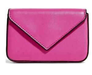Vera Bradley Faux Leather Envelope Card Case in FUCHSIA Deep Pink NWT Sealed New