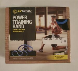 Gold's Gym Xtreme Crosstraining Extra Heavy Power Training Band Blue New!!