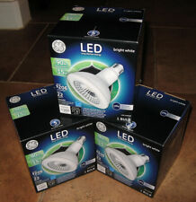 Lot of 3 GE LED Bright White PAR38 Dimmable 15W Indoor/Outdoor Floodlights 3000K