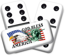 Americana Series God Bless Design Double six Professional size Dominoes