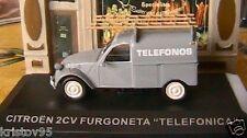 CITROEN 2CV FURGONETA TELEFONICA 1/43 ESPAGNOL SPANIA FOURGONNETTE TOLEE GRISE