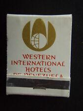 HOTELES CONAHOTU WESTERN INTERNATIONAL HOTELS DE VENEZUELA MATCHBOOK