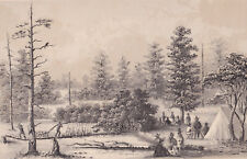 original Sarony stone lithograph: H. B. Möllhausen, Camp - Colorado Plateau