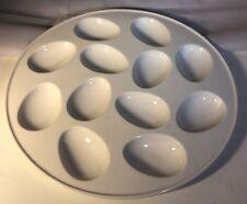 """Egg Tray Deviled Egg Serving Plate Off White Egg White 10"""""""