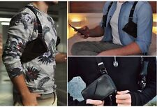 Leather Shoulder Holster for Smart Phone Cover Case iPhone 7 amazing BlackBerry