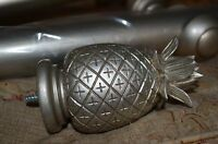 Laura Ashley curtain pole Antique pewter 1.8m 2 x Pineapple finials 35mm