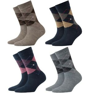 Socks Women Check BURLINGTON Art. 24080 Whitby 83% Acrylic (Size 36/41)