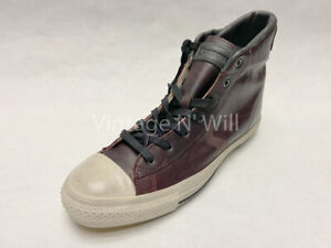 Converse X John Varvatos Men 10.5 Cordovan Dark Oxblood Mid Leather Sneaker Shoe