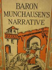 Vintage 1928 Book Baron Munchausen's Narrative Book 134 Pages Ginn & Company