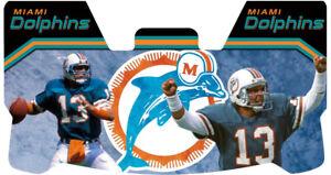 Custom Miami Dolphins Dan Marino Football Helmet Visor, W/ Unbranded Clips