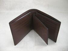 Authentic Coach F75371 Compact ID Signature Mahogany Crossgrain Men's Wallet