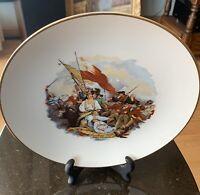 Vintage Porcelain Plate Battle of Bunker's Hill John Trumbull Free Shipping