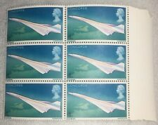 QE2 Concorde 4d, block of 6 stamps mint, 1969