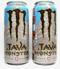 Lot of 2 Monster Java Swiss Chocolate Energy Drinks 15oz Full Cans