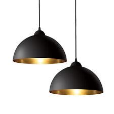 B.K.Licht I Deckenleuchte I Deckenlampe I Retrolampe I Vintage I E27 I 1-flammig I Schwarz-Gold I /Ø40cm I ohne Leuchtmittel