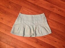 Mossimo Mossissue Jrs 7 Aqua Low Cotton Side Button Pleated Mini Skirt 29x13