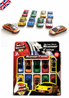 Assorted 10 Super CARS Kids Childs Toy DIE CAST Plastic Vehicle New Gift Set UK