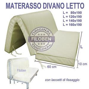 MATERASSO DIVANO LETTO PRONTOLETTO 80 120 160 X 190 POLIURETANO H 10CM