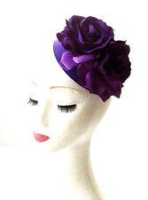 Violet Fleur Rose Casemate Mini Chapeau Bibi 1950s Rockabilly Vintage Cheveux