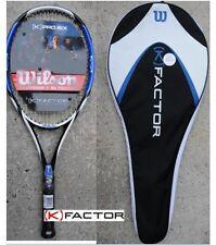 New Wilson (K) PRO.SIX 100 (R) Tennis Pre-Strung Racket (K) FACTOR 4 3/8 or 1/2
