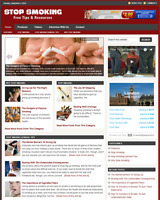 STOP SMOKING - Responsive Niche Website Business For Sale - Free Installation