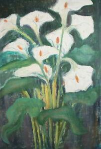 FLORAL FLOWERS VINTAGE GOUACHE PAINTING