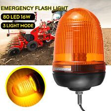 12 V-24 V 80 LED Emergency Tractor Warning Flash Strobe Rotating Beacon Light