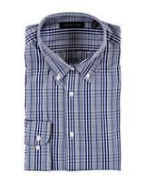 Tommy Hilfiger L/S Dress Shirt Size XL 17 - 36/37 Slim Fit Blue Check NWT