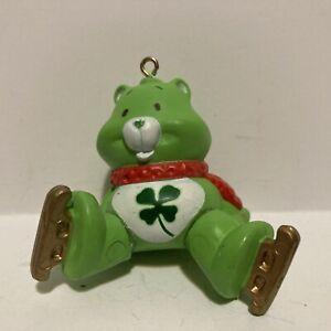 Vintage Good Luck Care Bears Christmas Ornament AGC Red Scarf & Ice Skates