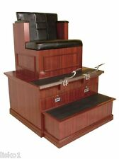 Collins 9040B Single seat Bradford Shoe Shine stand