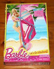 BARBIE LET'S GO WINDSURF! 4 Piece Accessory Set Beach Tote Sunglasses Towel NEW