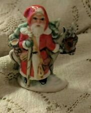 """3"""" Ceramic Bisque Christmas Santa Father Christmas Old World Belsnickle"""