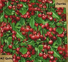 "Set of 2 (8"") E.S. ""Cherries"" Quilted-Handmade-Insulated-Hot Pads-Made in USA"