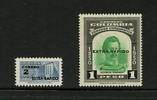 Colombia 1956  #C283-4  SURCHARGED, OVERPRINTED  2v.  MNH  J314