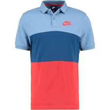Nike Men's Matchup Color Block Polo Shirt Blue Multicolor 847646-436 Small New