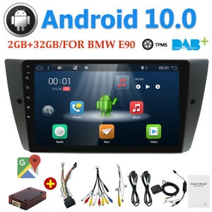 9Inch Android 10 For BMW E90-E93 320i 325i I Head Unit Car Stereo GPS Radio WIFI