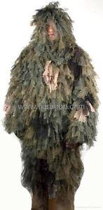 Leaf Ghillie Suit Woodland Camo, Fit large & X-Large Size