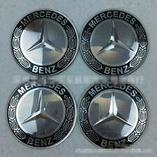 56MM65mmercedes- Benz Car Wheel Center Hub Caps Trim Silver grey Stickers Emblem