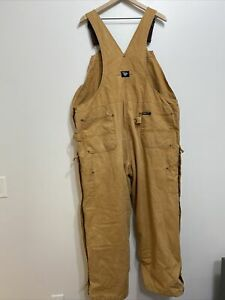 Walls Mens Overalls Size 46-48 2XLarge Regular Blizzard Pruf Quilted Brown XXL