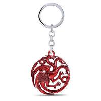 Game Of Thrones Targaryen Dynasty Distintivo 3D Metallo Portachiavi Chiave Chain